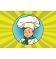 boy in white chefs hat vector image vector image