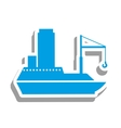 cargo ship icon pictogram image vector image vector image