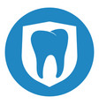 clean and strong white tooth with shieldclean and vector image