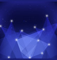 created minimalist blue origami abstract vector image vector image