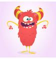 cute cartoon devil vector image vector image