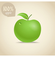 Cute fresh apple vector image
