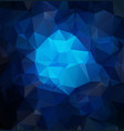 dark blue abstract textured polygonal background vector image