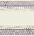 decorative lace frame with stylish flowers vector image vector image
