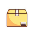 delivery box icon package vector image vector image