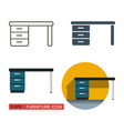 desk icon vector image vector image