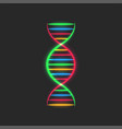 dna spiral logo deoxyribonucleic acid genetic vector image