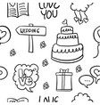 doodle of wedding object style hand draw vector image vector image