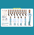 female doctor character creation set vector image vector image