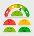 flat emotions mood scale set vector image vector image