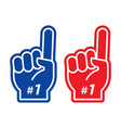 foam fingers number one and best vector image
