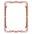 frame red ribbons pattern isolated vector image vector image