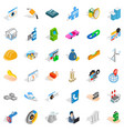 gear icons set isometric style vector image vector image