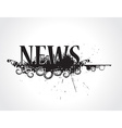 grunge news icon vector image