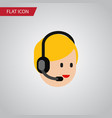 isolated service flat icon call center vector image vector image