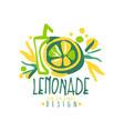 lemonade logo template original design colorful vector image vector image