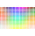 light rainbow square mosaic background over white vector image vector image