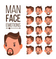 man emotions different male face avatar vector image