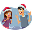 married couple arguing at christmas table vector image vector image