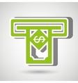 money dispenser isolated icon design vector image