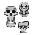Monster and zombie skulls vector image vector image