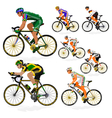 National cyclist 3 vector image