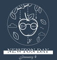 newton day black banner vector image vector image