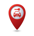 Parking for car icon on map pointer vector image