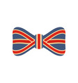 red blue bow tie icon flat style vector image vector image