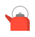 red retro teapot flat design icon vector image vector image