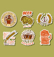 retro bavarian beer stickers alcoholic label vector image