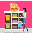 Sale in Clothing Store Flat Design Concept vector image vector image