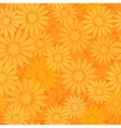 seamless sunflowers pattern background vector image vector image