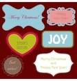 Set of christmas ng new year banners vector image vector image