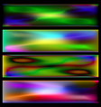 set of thermal backgrounds vector image