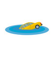 sinking car icon flat style vector image vector image