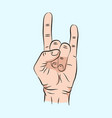 sketch of hand sign rock n roll music vector image