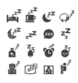 sleeping icon vector image
