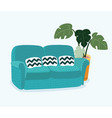 sofa for modern living room reception vector image