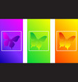 soft color gradients insect butterfly modern des vector image vector image