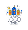 space logo original space mission and exploration vector image vector image