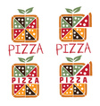 square pizza set design template vector image vector image