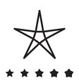 star icons isolated vector image vector image
