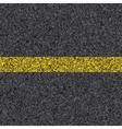 stripe on asphalt vector image