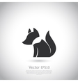 Stylized fox icon vector image vector image