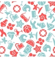 Summer time seamless pattern with icons vector image vector image