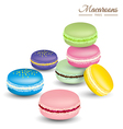 Tasty colorful french macaroons vector image vector image