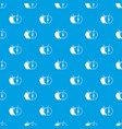 the whole apple and half pattern seamless blue vector image vector image