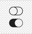 toggle button switch off turn on web ui icons vector image