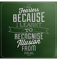 Typographic quote template vintage background vect vector image vector image